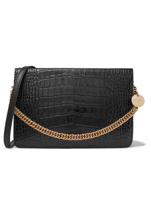 Givenchy - Gv Cross Croc-effect And Smooth Leather Shoulder Bag - Black