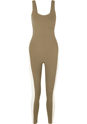 TWENTY Montréal - Strike Cobra 3d Stretch Jacquard-knit Jumpsuit - Army green