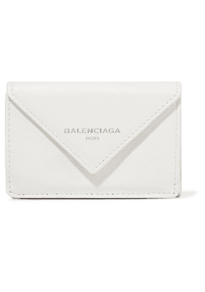 Balenciaga - Papier Mini Printed Textured-leather Wallet - White