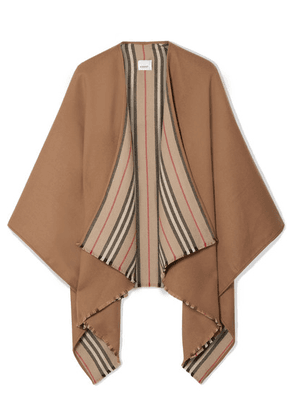 Burberry - Reversible Striped Wool Wrap - Camel