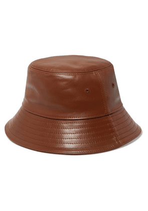 Burberry - Leather Bucket Hat - Tan