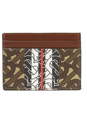 Burberry - Printed Textured-leather Cardholder - Brown