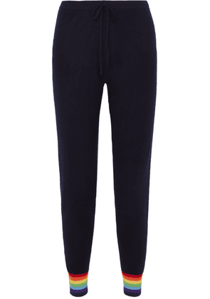 Madeleine Thompson - Bill Striped Cashmere Track Pants - Navy