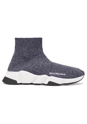 Balenciaga - Speed Stretch-knit High-top Sneakers - Gray