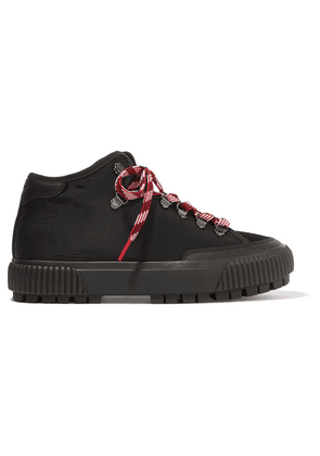rag & bone - Army Canvas, Suede And Leather Ankle Boots - Black