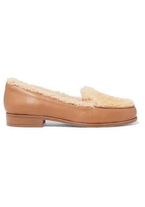 Tabitha Simmons - Blakie Shearling And Leather Loafers - Cream