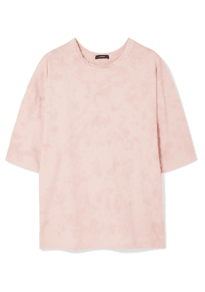 Bassike - Motley Oversized Tie-dyed Organic Cotton-jersey T-shirt - Pink