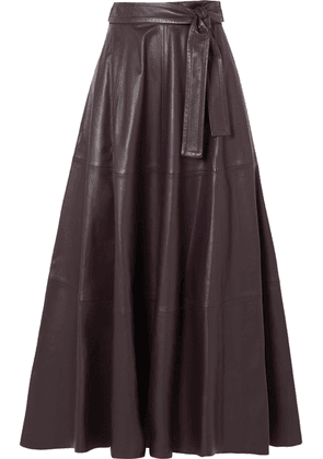 Zimmermann - Resistance Leather Midi Skirt - Brown