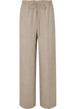 The Row - Wool And Silk-blend Wide-leg Pants - Beige