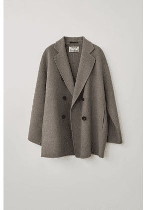 Acne Studios FN-WN-OUTW000221 Stone grey melange Double-breasted coat