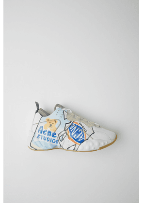 Acne Studios SP-WN-SHOE000001 White/white Ceramic-print lace-up sneakers