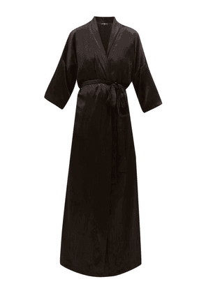 Edward Crutchley - Velvet Robe Coat - Womens - Black