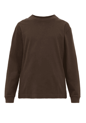 Mhl By Margaret Howell - Long Sleeved Cotton Jersey T Shirt - Mens - Black