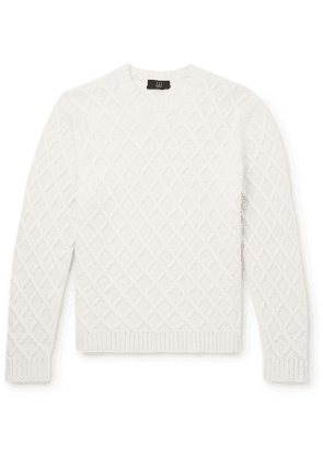Dunhill - Cable-knit Cashmere Sweater - Off-white