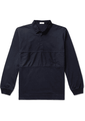 nanamica - Rugger Panelled Cotton-jersey Rugby Shirt - Navy