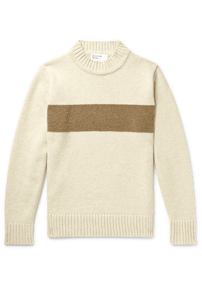 Universal Works - Striped Wool-blend Sweater - Beige