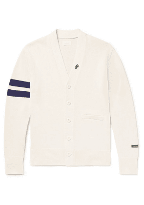 Aimé Leon Dore - Striped Cotton Cardigan - Off-white