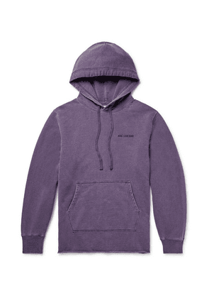 Aimé Leon Dore - Logo-embroidered Loopback Cotton-jersey Hoodie - Purple