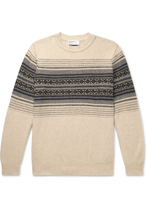 Universal Works - Fair Isle Wool-blend Sweater - Cream