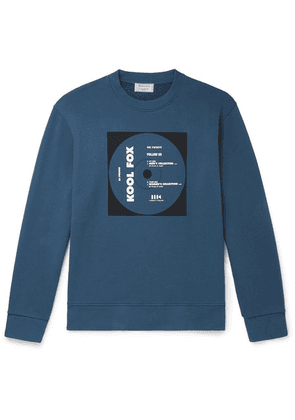 Maison Kitsuné - Printed Loopback Cotton-jersey Sweatshirt - Blue