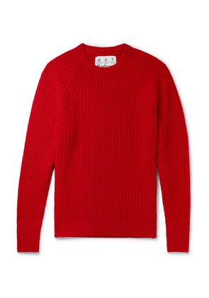 Barbour - Tynedale Ribbed Wool Sweater - Red