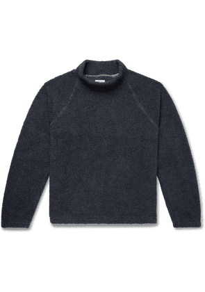 Save Khaki United - Cotton-fleece Mock-neck Sweatshirt - Navy