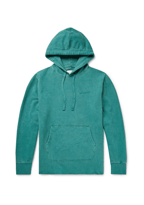 Aimé Leon Dore - Logo-embroidered Loopback Cotton-jersey Hoodie - Teal