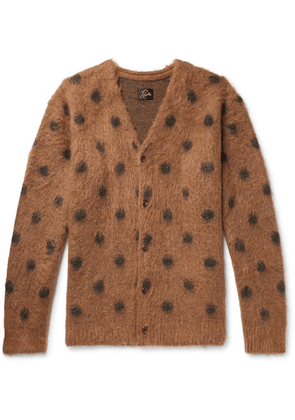 Needles - Polka-dot Mohair And Wool-blend Cardigan - Brown
