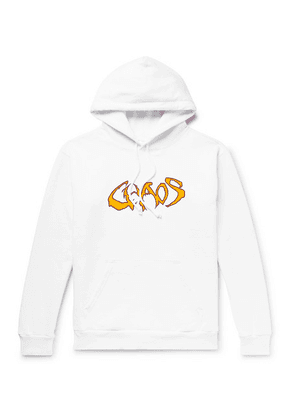 Noon Goons - Fleece-back Printed Cotton-jersey Hoodie - White