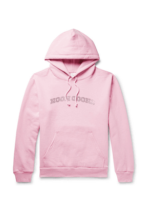 Noon Goons - Logo-embellished Fleece-back Cotton-jersey Hoodie - Pink
