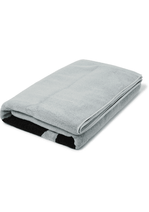 DISTRICT VISION - + Reigning Champ Radical Retreat Printed Cotton-blend Terry Towel - Light gray