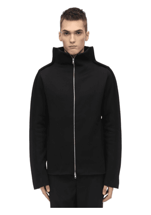 Tubular Wool Blend Jersey Jacket