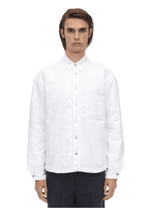 Embroidered Logo Cotton Poplin Shirt