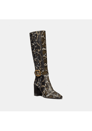 Coach Evelyn Boot In Snakeskin