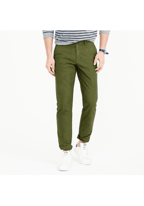 Garment-dyed cotton oxford pant in 770 straight fit