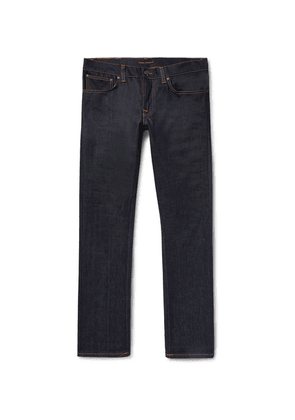 Nudie Jeans - Grim Tim Slim-fit Organic Stretch-denim Jeans - Dark denim