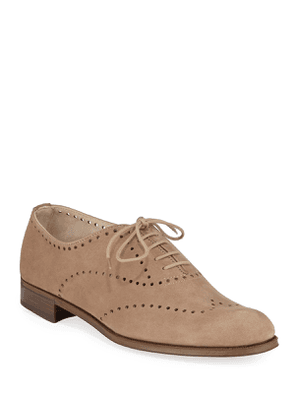 Perforated Lace-Up Oxford