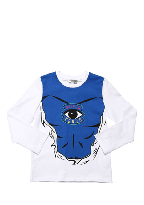 Printed L/s Cotton Jersey T-shirt