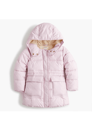 Girls' classic parka with eco-friendly Primaloft®