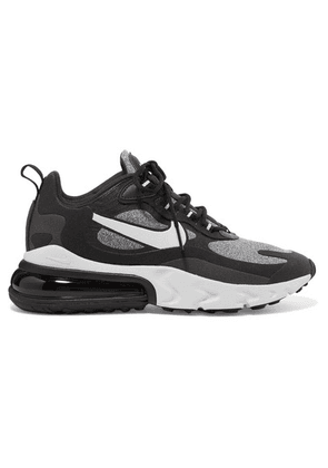 Nike - Air Max 270 React Neoprene And Faux Leather Sneakers - Black
