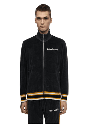Zip Up Cotton Chenille Track Jacket