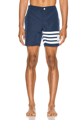 Thom Browne Snap Front Swim Short in Navy - Blue,White. Size 1 (also in ).