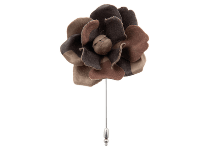 Camouflage Flower Lapel Pin
