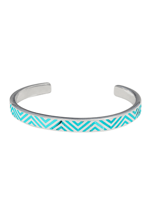 Sterling Silver and Turquoise Zigzag Open Cuff