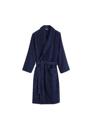 Midnight Blue Towelling Robe