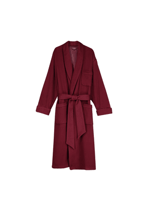 Bordeaux Silk-Lined Cashmere Robe