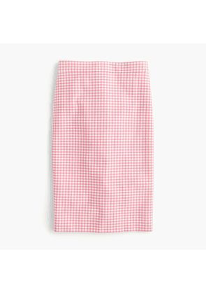 Petite No. 2 pencil skirt in gingham two-way stretch cotton