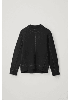 PANELLED RECYCLED COTTON SWEATSHIRT