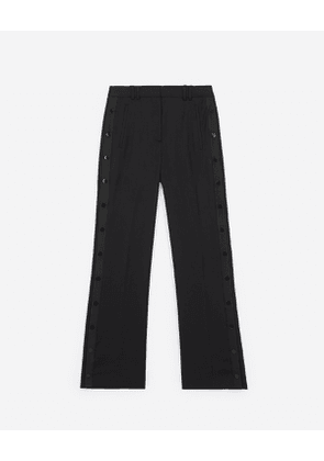 The Kooples - fitted black trousers with press studs - bla