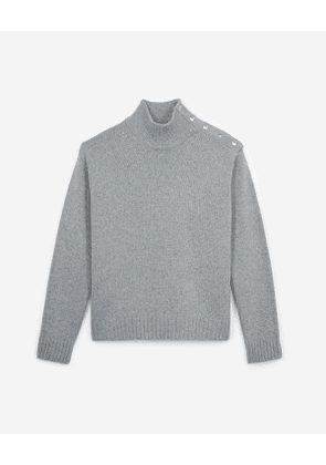 The Kooples - pullover with patch - grey
